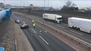 Man dead and woman critical after A50 crash following police pursuit