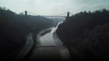 Tonnes of rubbish is washed up underneath the Clifton Suspension Bridge every year