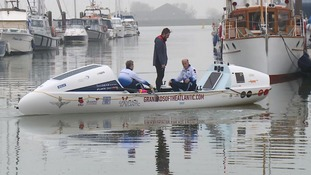 Grandads - who had never rowed before - aiming to cross the Atlantic