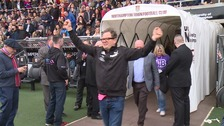 Alan Carr (left) and Graham Alan Carr was in the dugout at Sixfields.