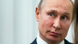 Vladimir Putin has warned the US, UK and France against most strikes.