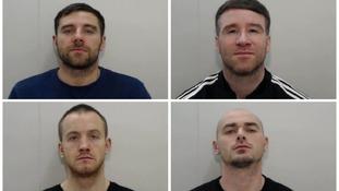 Richard 'Ricky Smith, John Groom, Patrick McDonagh and David Dargan