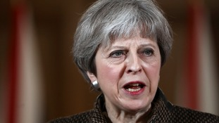Theresa May will face questions over Syria in the Commons on Monday.