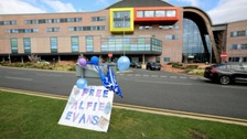 A protest is underway at Alder Hey as the lawyers who represent the parents of Alfie Evans ask Court Appeal judges to reconsider the case