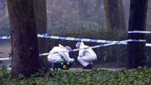 The park remains closed as police carry out forensic examination