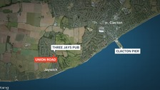 Liquid was thrown from a car at Union Road in Jaywick