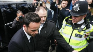 Anthony McPartlin arriving at Wimbledon Magistrates' Court.