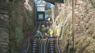 Lynton and Lynmouth Railway reopens following landslip