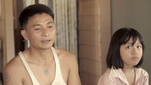 Malaria survivor Tin Myint Hlaing now fears for his children.