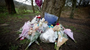 Tributes left at a tree