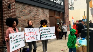 Protesters attempted to boycott the café.