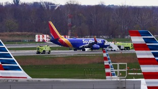 The plane was forced to make an emergency landing.