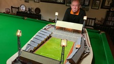 Wolves fan makes model stadium out of matchsticks