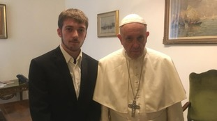 Tom Evans meets the Pope at the Vatican