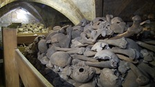 Carbon dating on crypt discovery places bones in 13th Century
