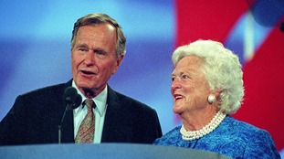 Mrs Bush and husband George HW Bush were married for 73 years.