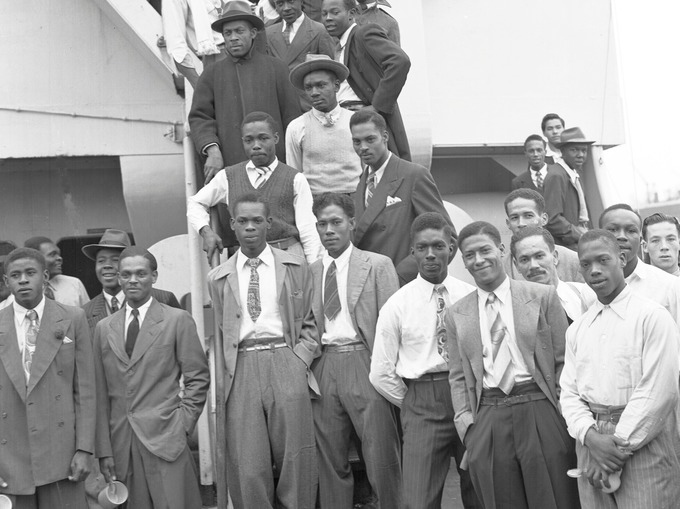 Original Members Of The Windrush Generation Arrived In The Uk On The Empire Windrush Ship In