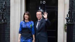 Mr Cameron won a surprise majority in 2015 (File)