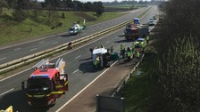Serious collision closes M6 northbound