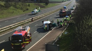 The scene of the crash at at J44, Carlise