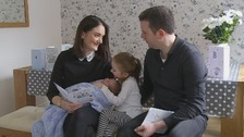 Lauren and Stuart Grace with daughter Bethanie and new arrival Callum
