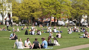 Londoners flock to green space to enjoy the most of the hot weather.