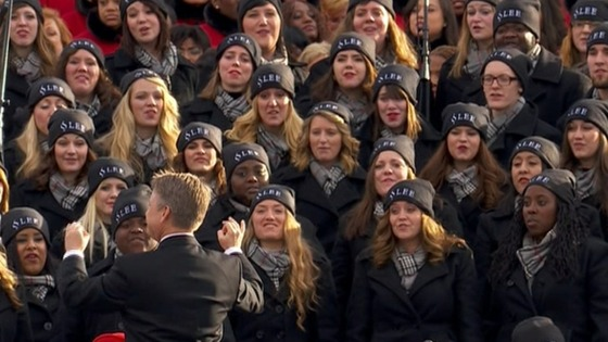 Members of the PS22 Chorus singing at President Obama's Inauguration