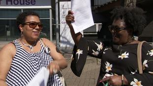 Windrush immigrants Glenda Caesar and Sonia Williams