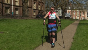 Simon Kindleysides in training for the marathon