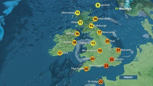 Weather: Warm with some low cloud on West coast