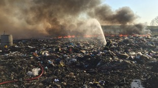 Residents urged to shut windows after landfill fire