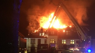 Emergency services attended the fire at a block of flats in northeast London