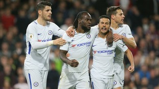Victor Moses harms Burnley's chances of a top-six finish as Chelsea trail Spurs in fourth by five points