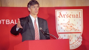 Arsene Wenger signed as Arsenal manager in 1996.