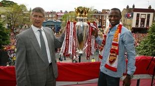 Arsene Wenger and Patrick Vieira.