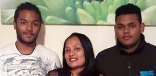 Brothers Sean Ragoobeer, 17, (left) and Shane Ragoobeer,18, and their mother Mary Ragoobeer were killed in the blast in February.