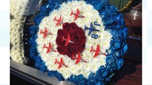 Red Arrows wreath
