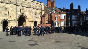 RAF Personnel pay respects
