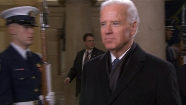 Vice President Joe Biden arrives at the US Capitol