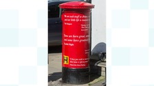 The postbox to mark Shakespeare's birthday