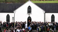 The funeral of country music star Big Tom McBride in Co Monaghan