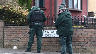 Police at the scene of the shooting in the Ballysillan/Tyndale Drive area of north Belfast