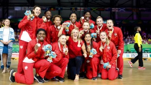Team England's triumphant netball team