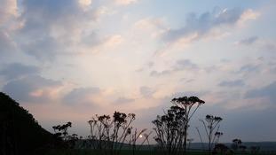 Sunrise over Hinxton, Cambridgeshire