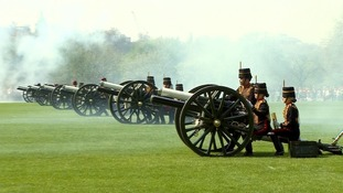 A 41-gun salute was held in Hyde Park to mark the Queen's 92nd birthday.