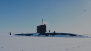 Devon based submariners simulate war beneath the ice