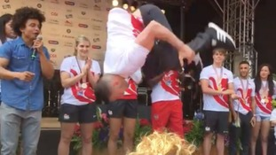 Backflips on stage as Commonwealth 'homecoming' gets underway