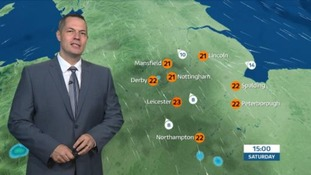East Midlands Weather: Warm, later showers