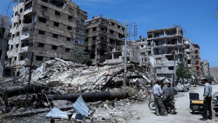 More than 70 people are thought to have died in Douma on April 7.