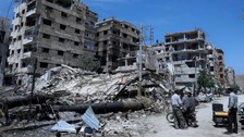 OPCW leave site of suspected chemical attack in Syria